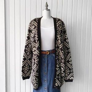 Vintage 90s Marsh Landing Knit Cardigan Sweater